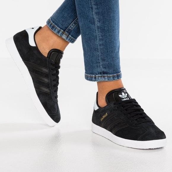 adidas gazelle womens black